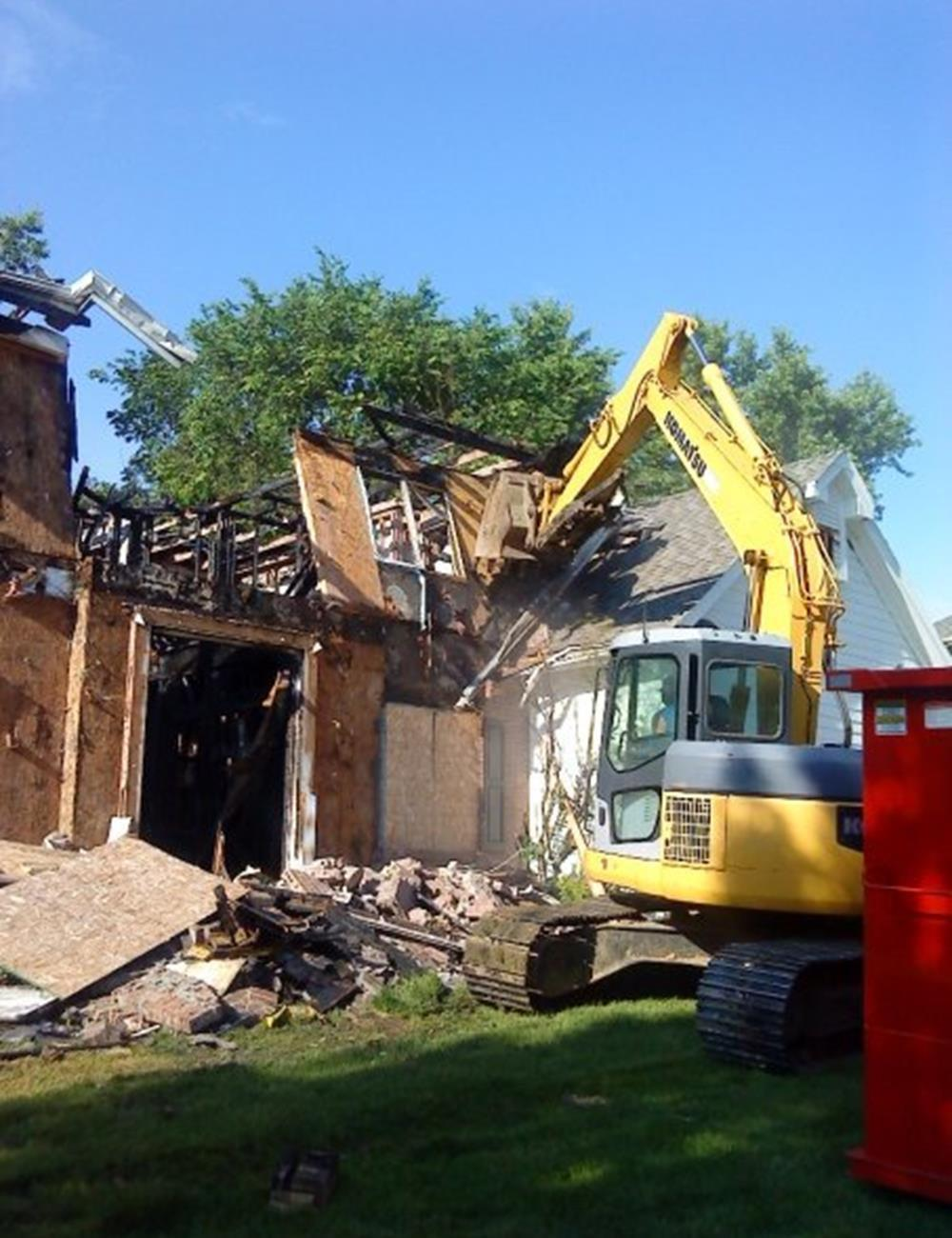 Demolition in Johnston Iowa