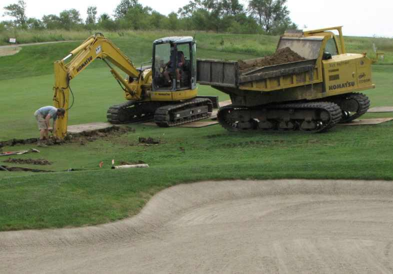 Golf Course Maintenance Tiling
